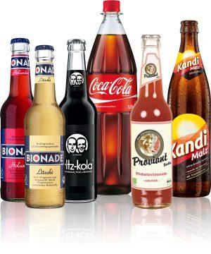 Softdrinks, Schorlen, aromatisiertes Mineralwasser